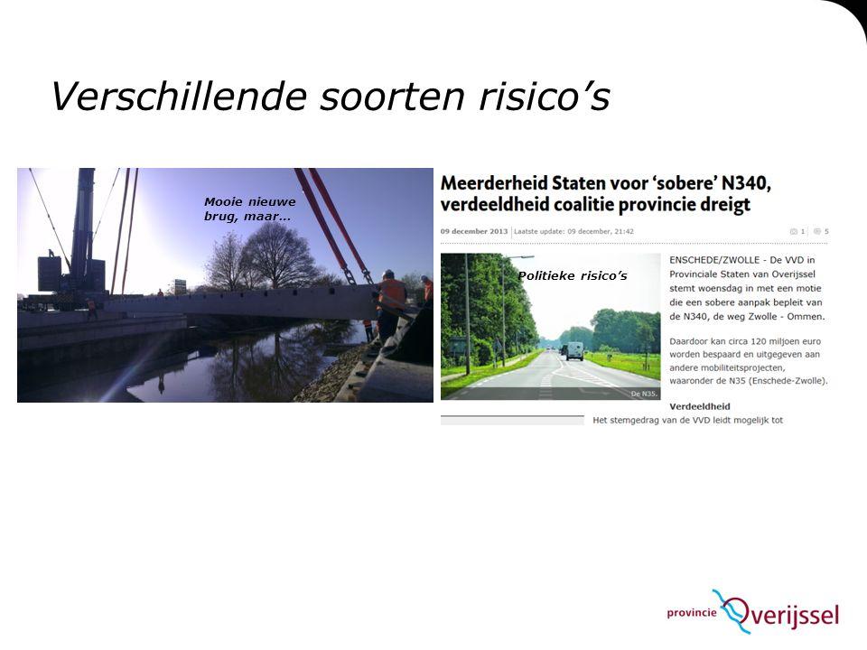 Verschillende soorten risico's Politieke risico's Mooie nieuwe brug, maar…