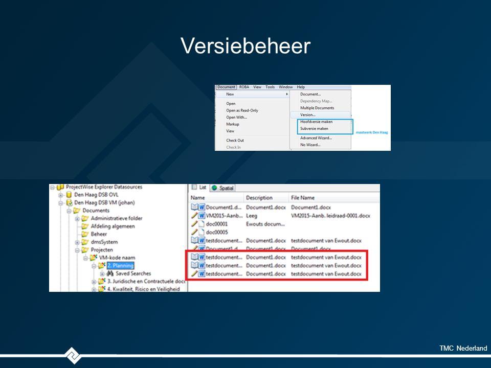 TMC Nederland Versiebeheer