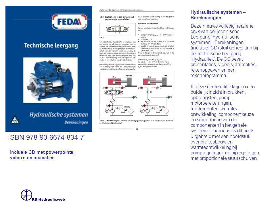 ISBN 978-90-6674-834-7 Hydraulische systemen – Berekeningen Deze nieuwe volledig herziene druk van de Technische Leergang 'Hydraulische systemen - Ber
