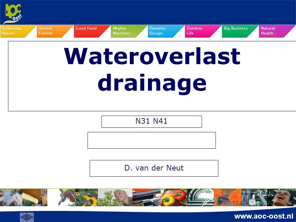 www.aoc-oost.nl Wateroverlast drainage N31 N41 D. van der Neut