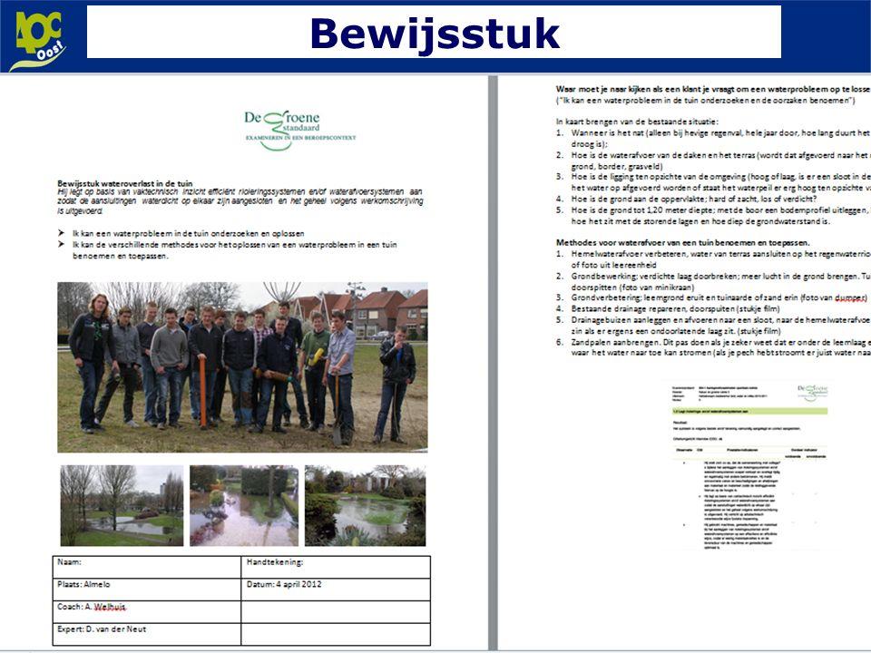 www.aoc-oost.nl Bewijsstuk