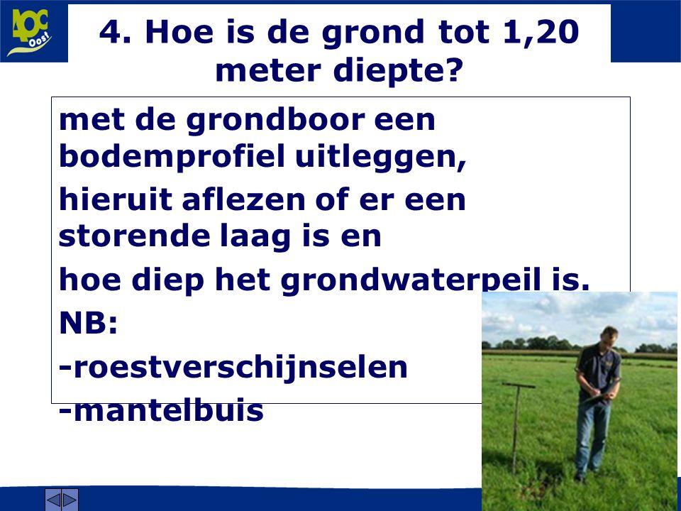 www.aoc-oost.nl 4. Hoe is de grond tot 1,20 meter diepte.