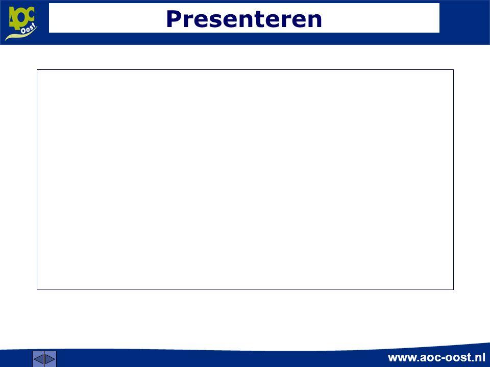 www.aoc-oost.nl Presenteren