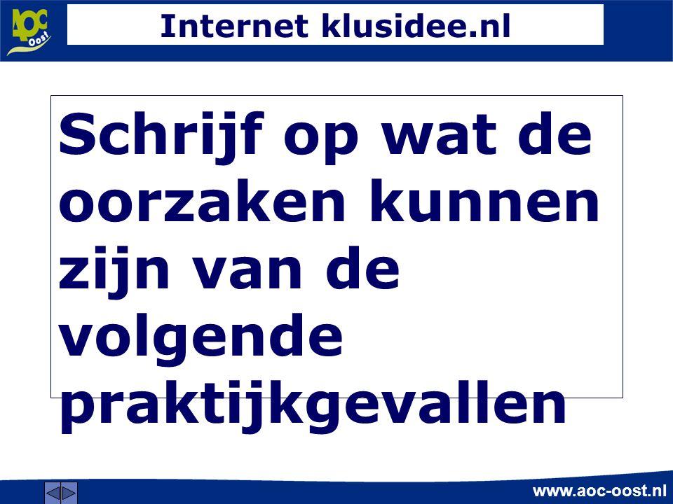 www.aoc-oost.nl 2.Hoe is de waterafvoer van de daken en het terras.