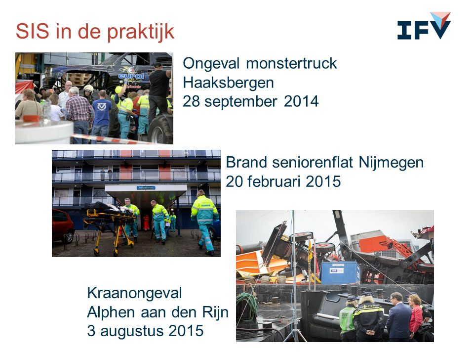 Ongeval monstertruck Haaksbergen 28 september 2014 Brand seniorenflat Nijmegen 20 februari 2015 Kraanongeval Alphen aan den Rijn 3 augustus 2015