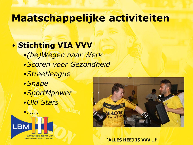 Stichting VIA VVV (be)Wegen naar Werk Scoren voor Gezondheid Streetleague Shape SportMpower Old Stars.....