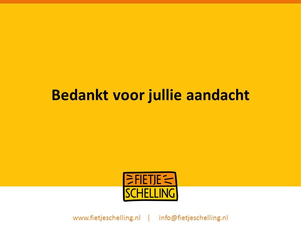 Bedankt voor jullie aandacht www.fietjeschelling.nl | info@fietjeschelling.nl