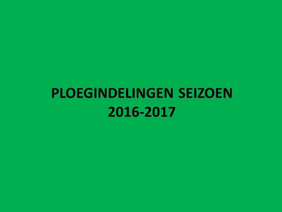 PLOEGINDELINGEN SEIZOEN 2016-2017