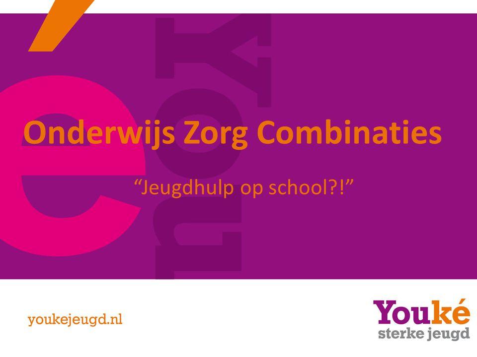 Onderwijs Zorg Combinaties Jeugdhulp op school !