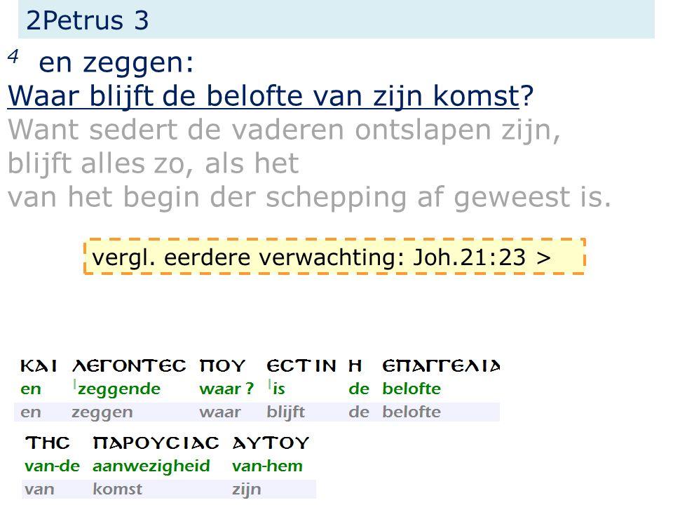 Johannes 21 21 Toen hij deze (= Johannes) zag, zeide Petrus tot Jezus: Here, maar wat zal met deze gebeuren.