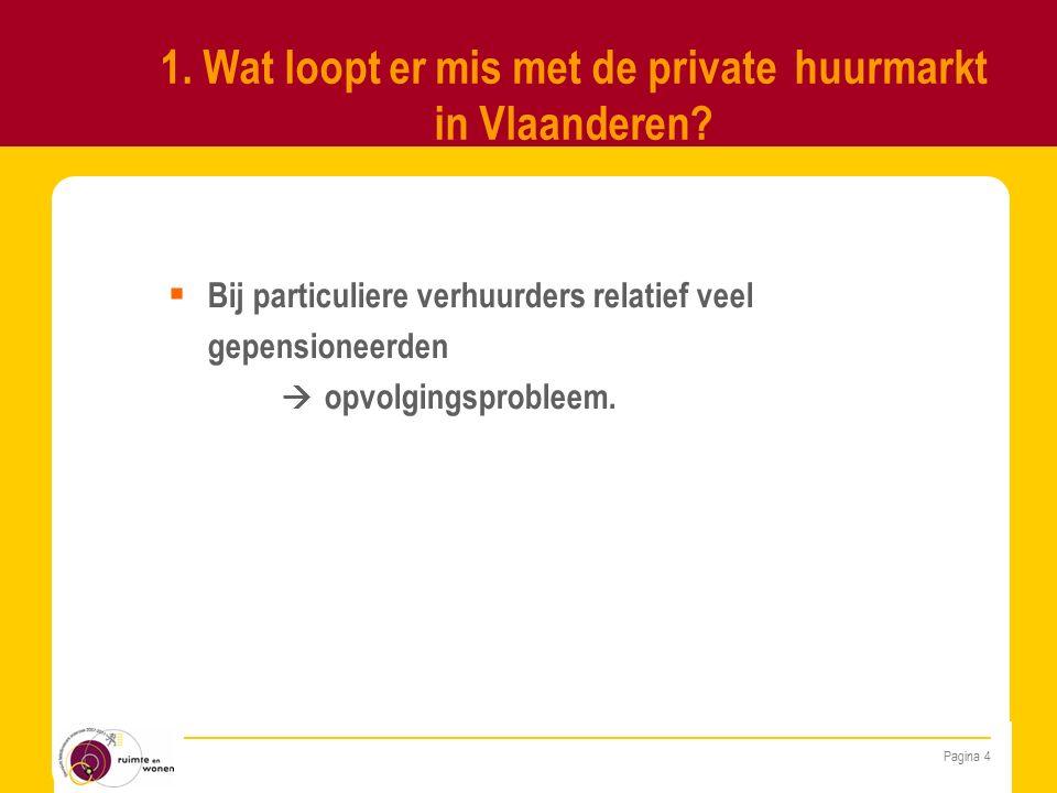 Pagina 4 1. Wat loopt er mis met de private huurmarkt in Vlaanderen.