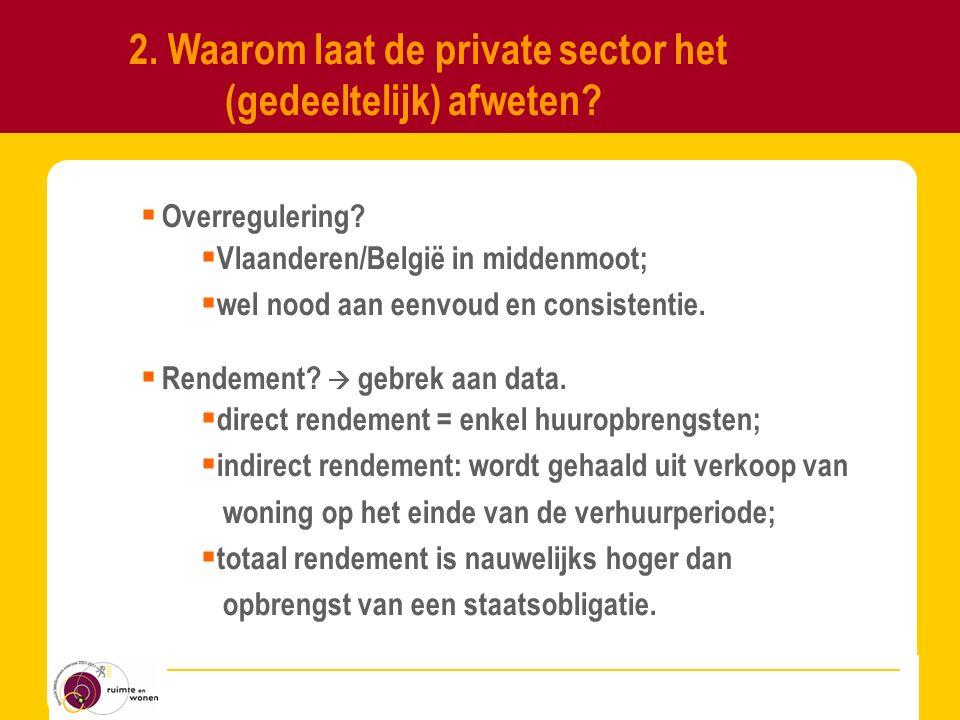 Pagina 6 2.Waarom laat de private sector het (gedeeltelijk) afweten.