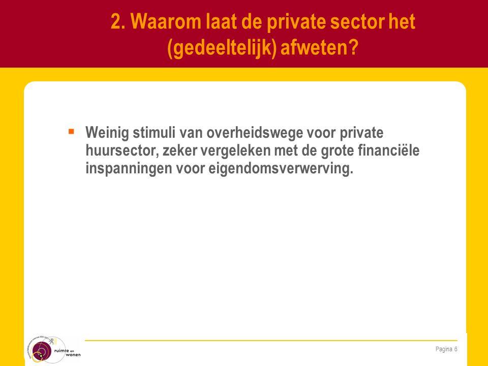  Algemeen= stimuleren van aanbod aan kwaliteitsvolle en betaalbare huurwoningen op de private markt.