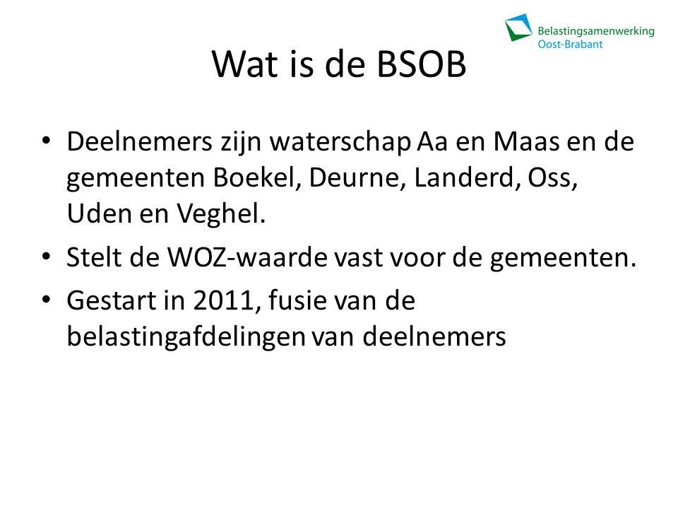 Wat is de BSOB Deelnemers zijn waterschap Aa en Maas en de gemeenten Boekel, Deurne, Landerd, Oss, Uden en Veghel.