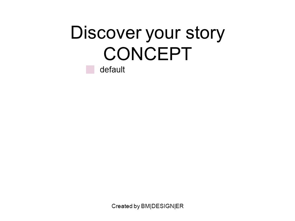 Created by BM|DESIGN|ER Discover your story CONCEPT default