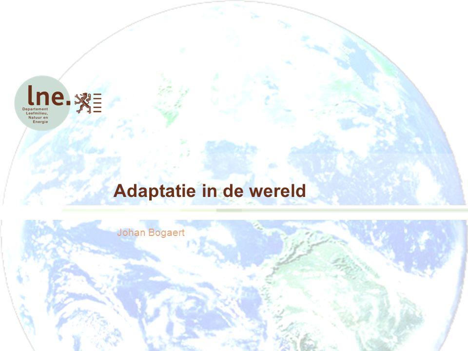 Adaptatie in de wereld Johan Bogaert