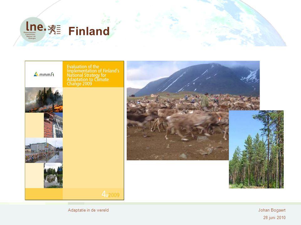 Adaptatie in de wereldJohan Bogaert 28 juni 2010 Finland