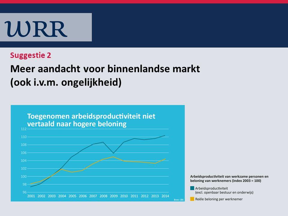 Meer aandacht voor binnenlandse markt (ook i.v.m. ongelijkheid) Suggestie 2