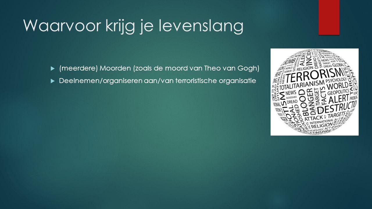 Hoelang is levenslang  In Nederland is levenslang, echt levenslang.