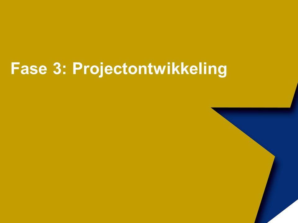 Fase 3: Projectontwikkeling