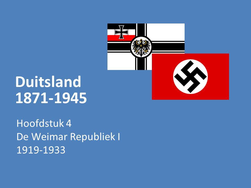 Duitsland 1871-1945 Hoofdstuk 4 De Weimar Republiek I 1919-1933
