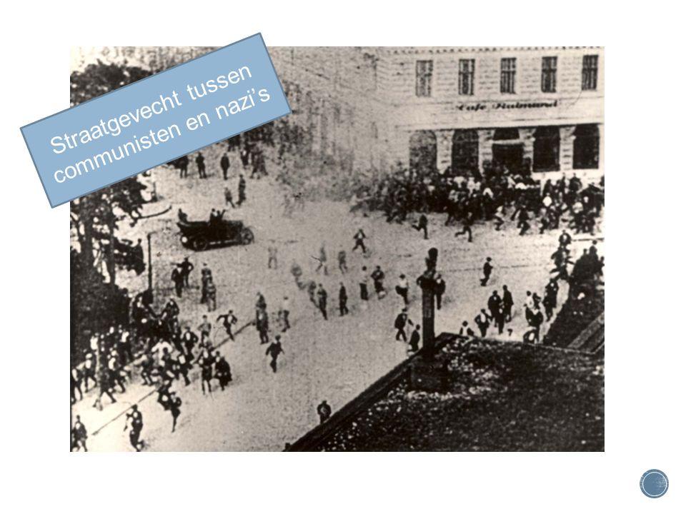 Straatgevecht tussen communisten en nazi's