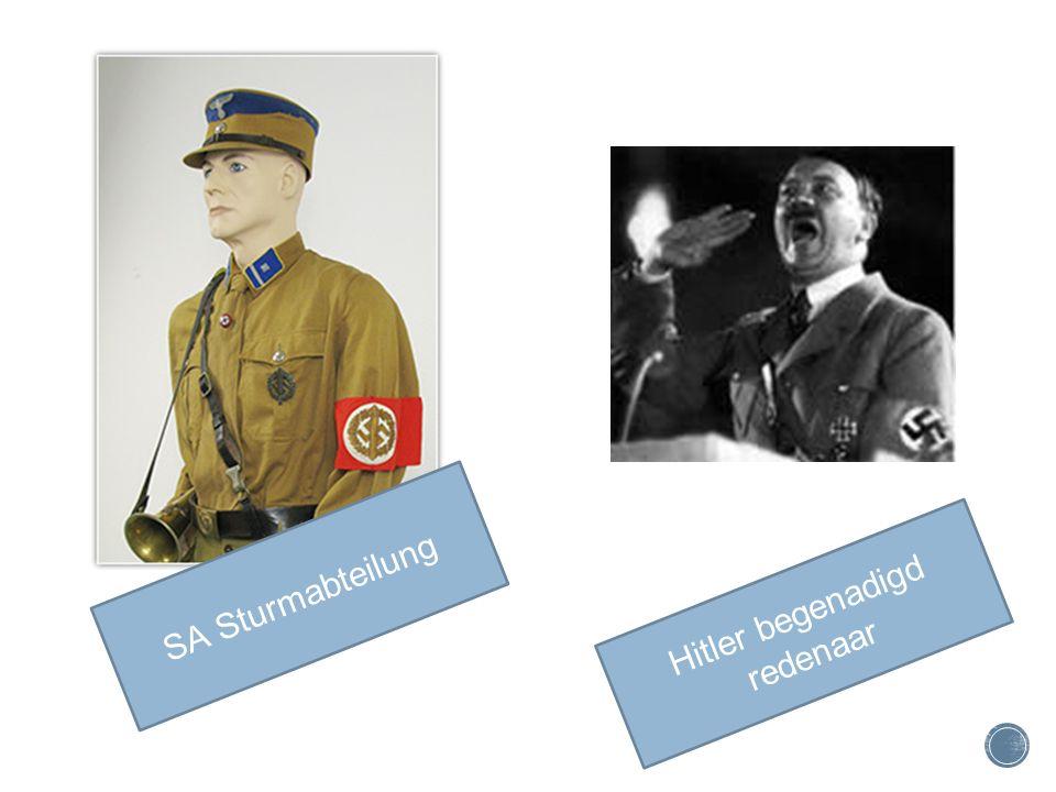 Hitler begenadigd redenaar SA Sturmabteilung