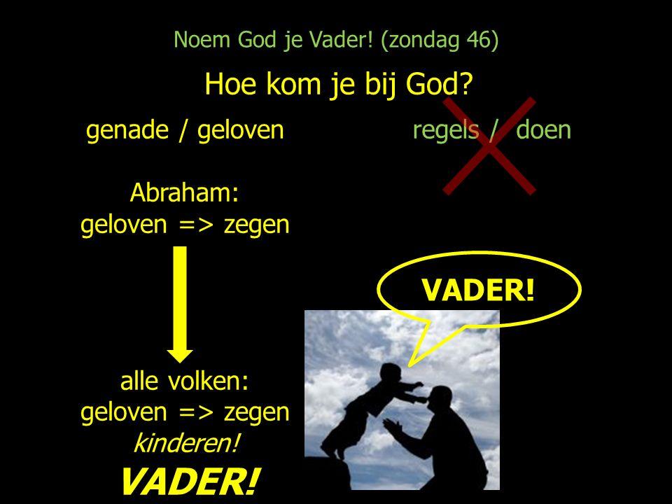 Noem God je Vader. (zondag 46) Hoe kom je bij God.