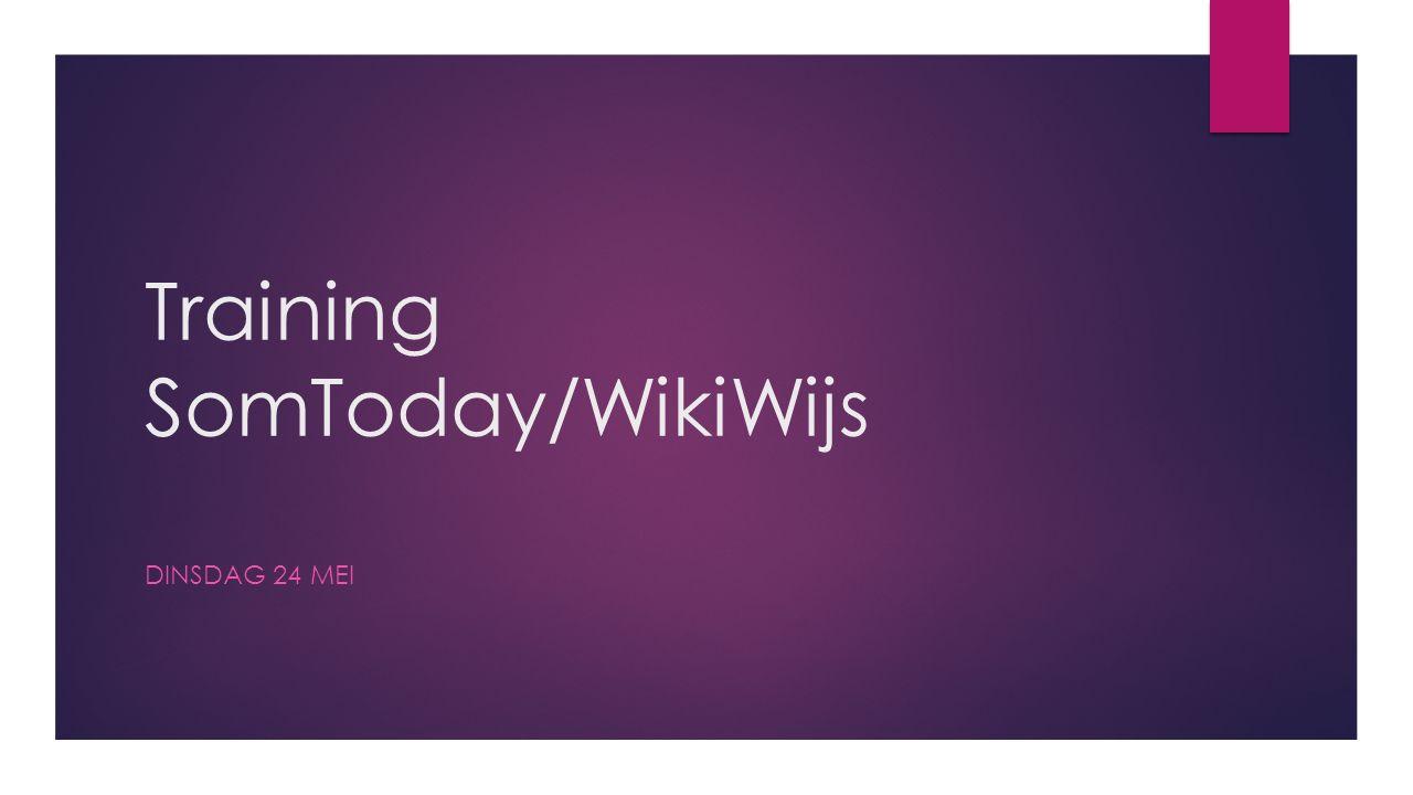 WikiWijs (3)  Mis je zaken of is er iets niet goed overgezet geef dit dan door aan je trainer.