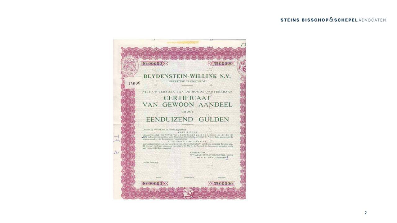 Certificaten, vergaderrecht en overgangsrecht (V) Vennootschap schrijft uiterlijk 1 oktober 2013 vergadergerechtigde certificaathouders in.