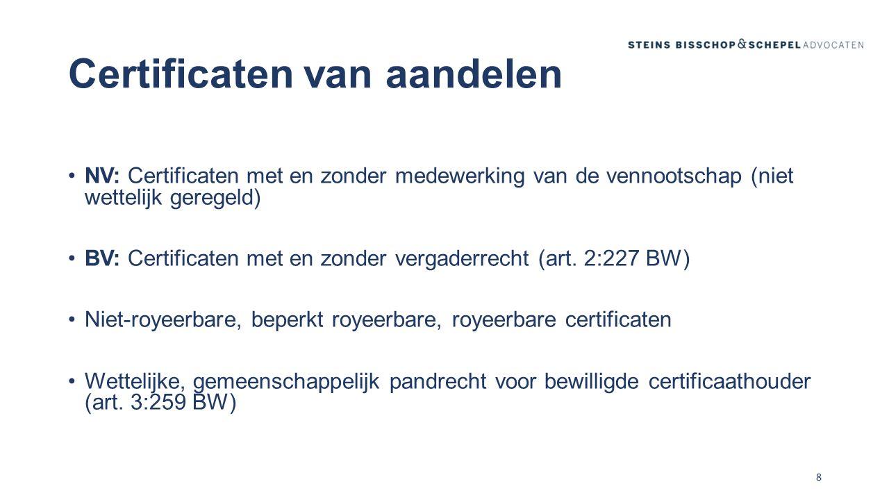 Certificaten, vergaderrecht en overgangsrecht (I) Specifiek overgangsrecht: art.