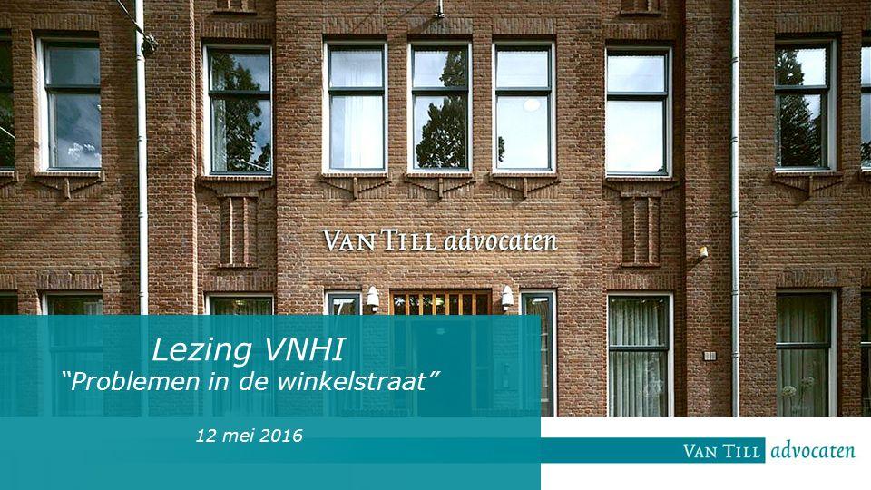 Lezing VNHI Problemen in de winkelstraat 12 mei 2016
