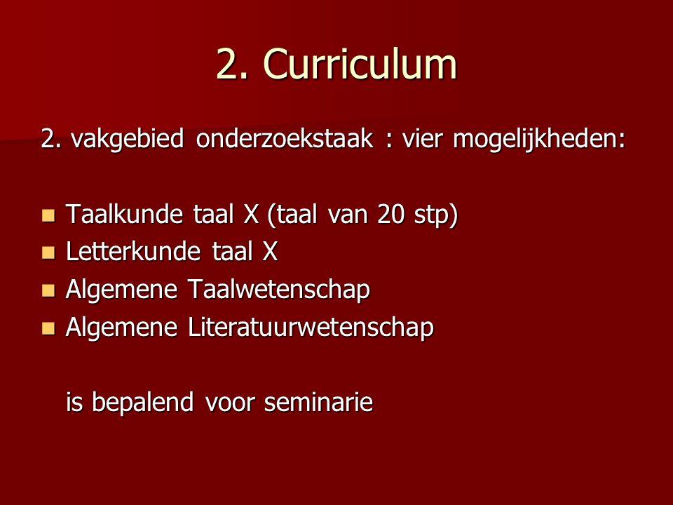 2. Curriculum 2.