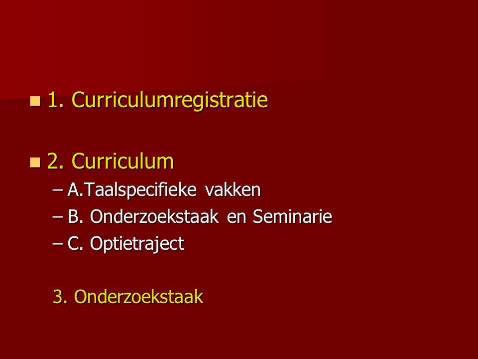 2.Curriculum 1.Taal X = 20 stp. 1. Taal X = 20 stp.