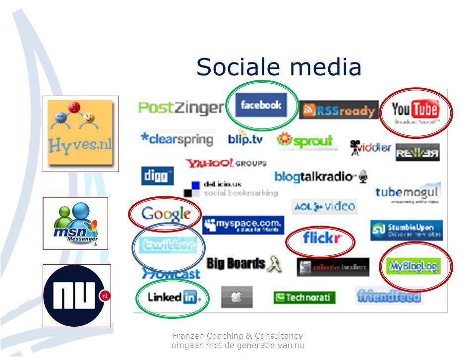 Sociale media Franzen Coaching & Consultancy omgaan met de generatie van nu