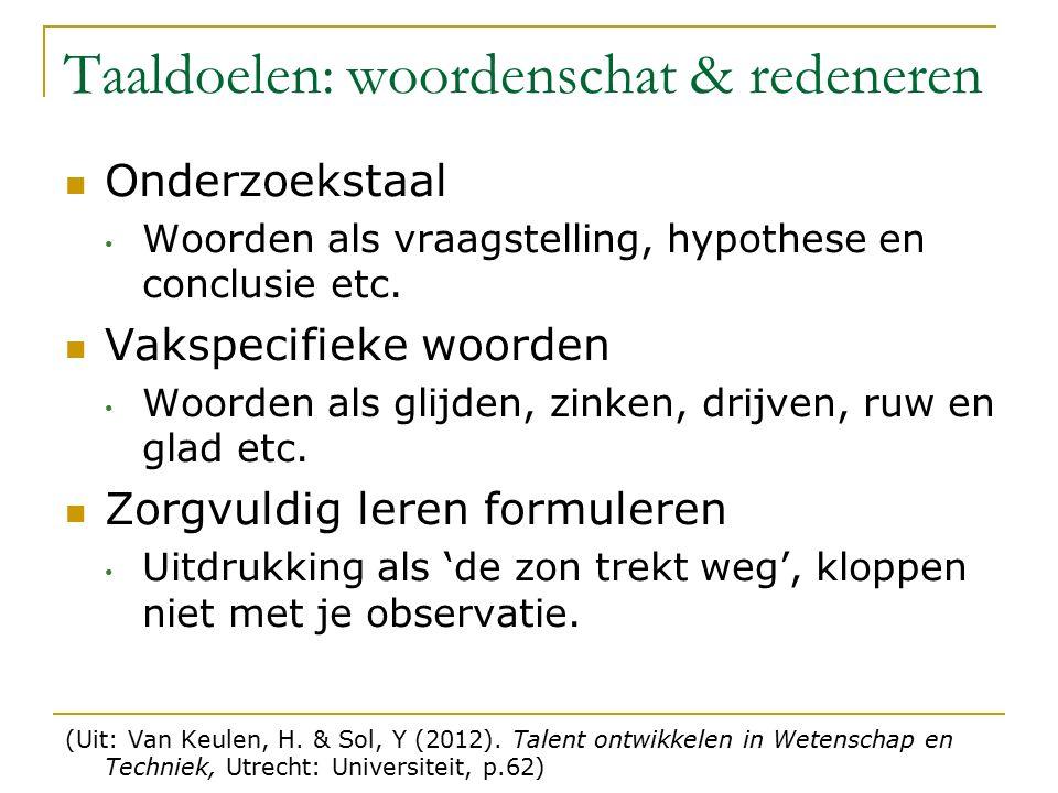 Onderzoekstaal Woorden als vraagstelling, hypothese en conclusie etc.
