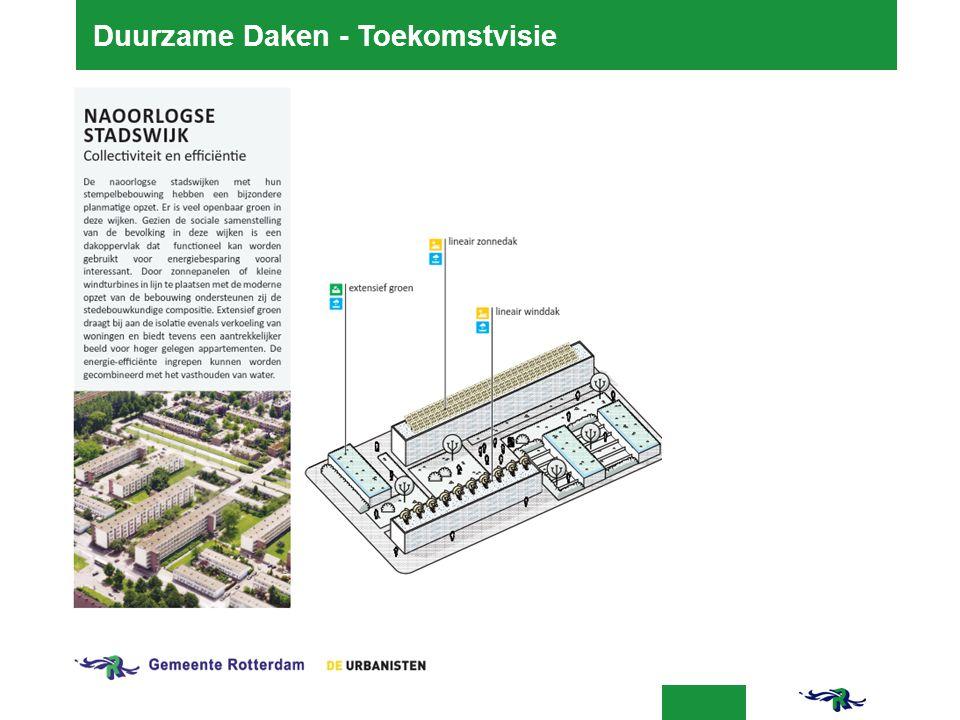 24-03-2016 8 Duurzame Daken - Toekomstvisie  http://www.rotterdam.nl/groenedaken http://www.rotterdam.nl/groenedaken