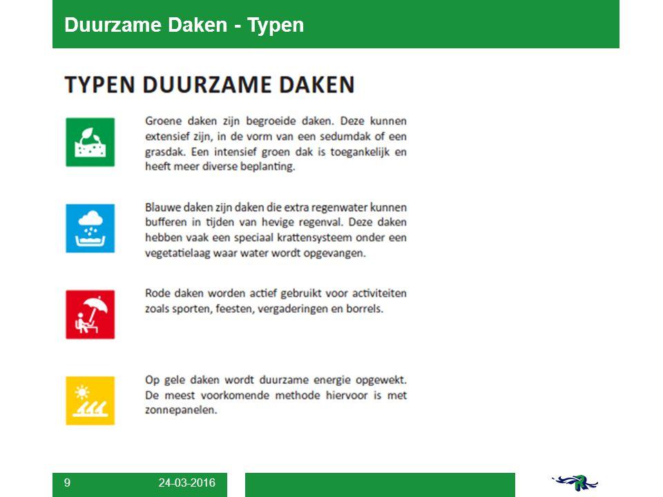 24-03-2016 9 Duurzame Daken - Typen