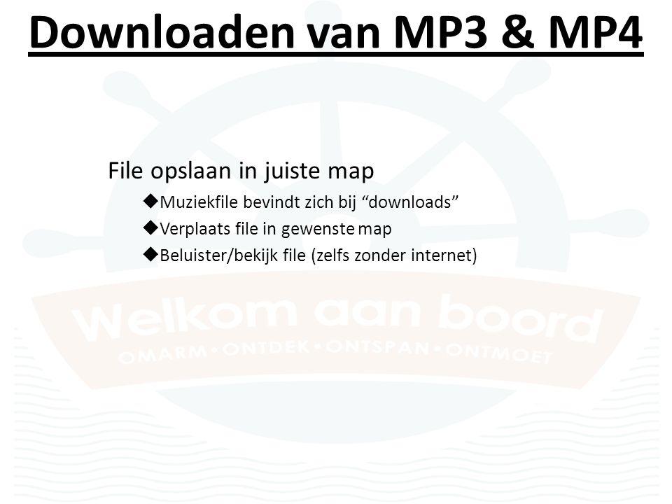Downloaden van MP3 & MP4 Een ander lied downloaden  Druk op HOME en herbegin