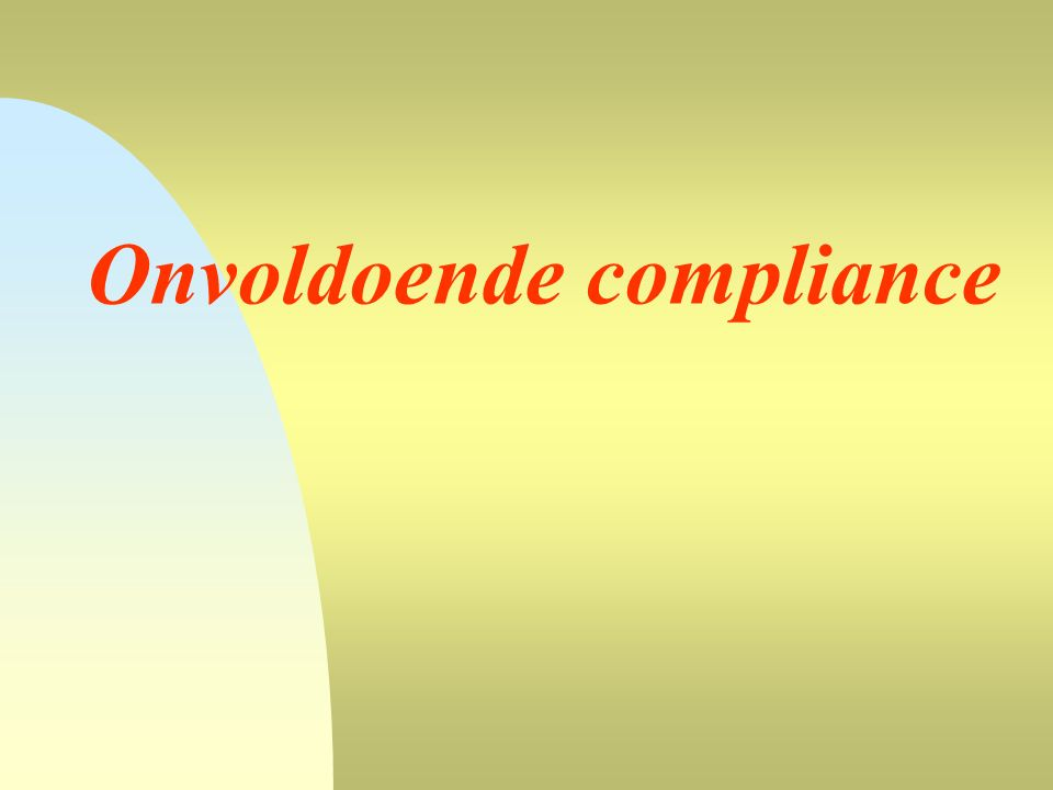 Onvoldoende compliance