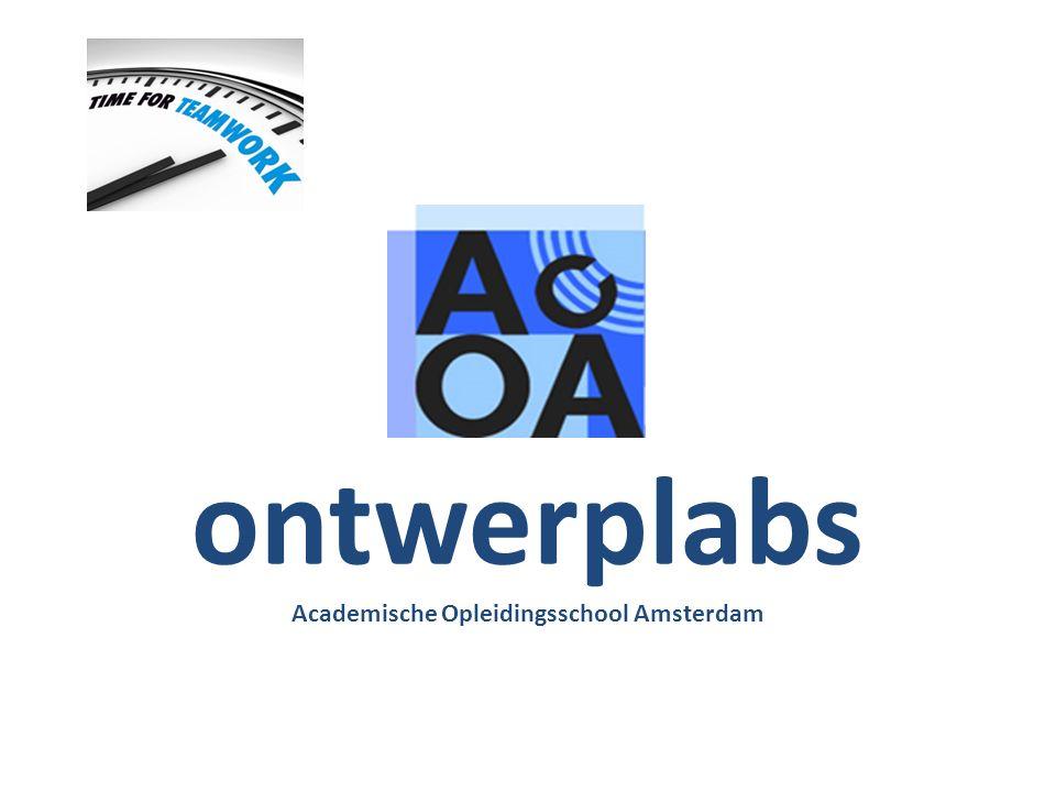 ontwerplabs Academische Opleidingsschool Amsterdam