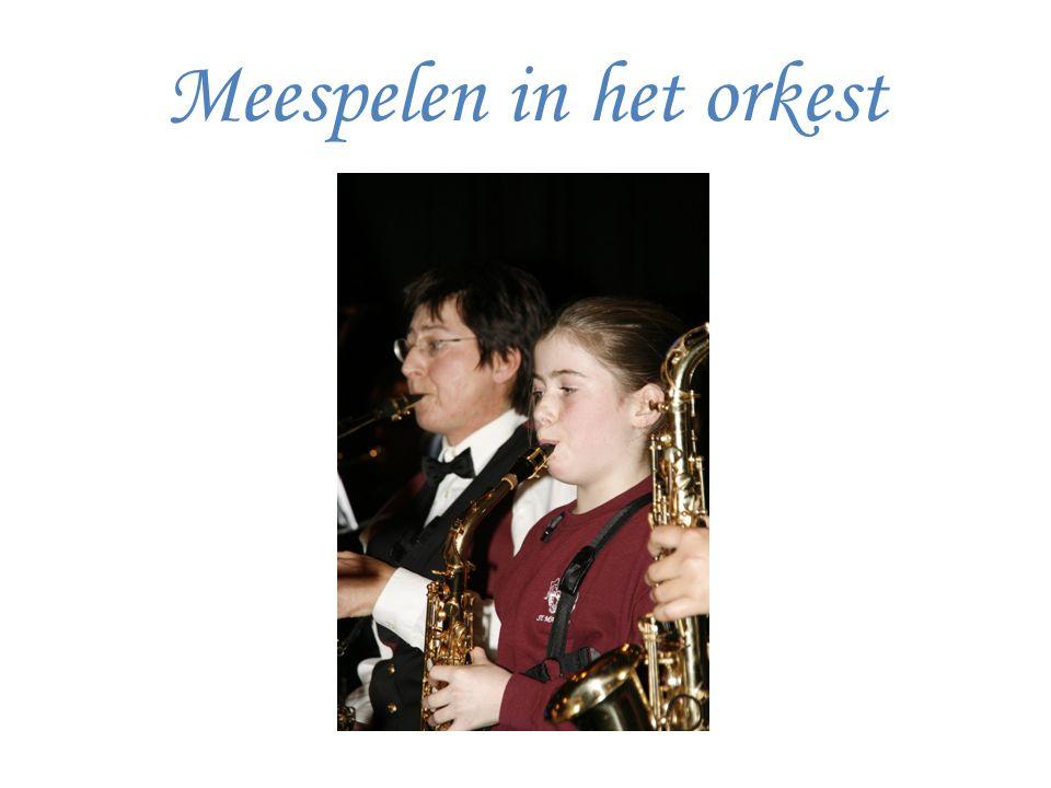 Meespelen in het orkest