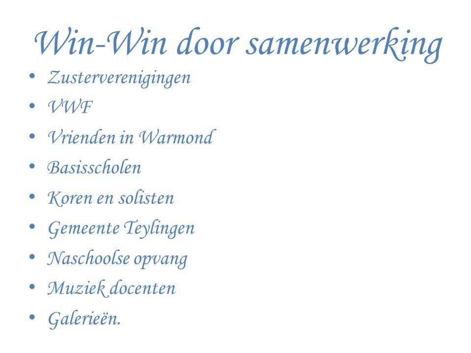 Win-Win door samenwerking Zusterverenigingen VWF Vrienden in Warmond Basisscholen Koren en solisten Gemeente Teylingen Naschoolse opvang Muziek docenten Galerieën.