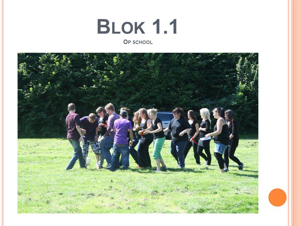 B LOK 1.1 O P SCHOOL