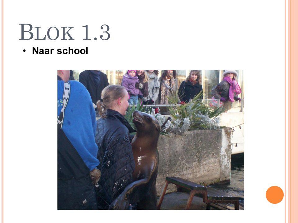 B LOK 1.3 Naar school