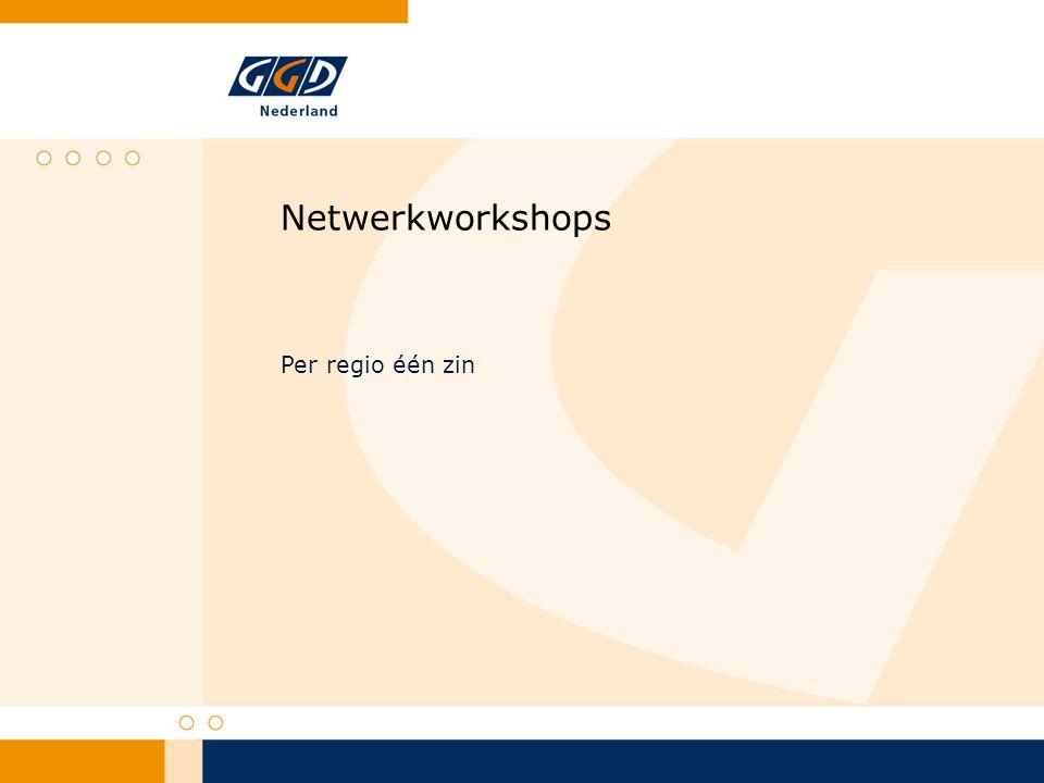 Netwerkworkshops Per regio één zin