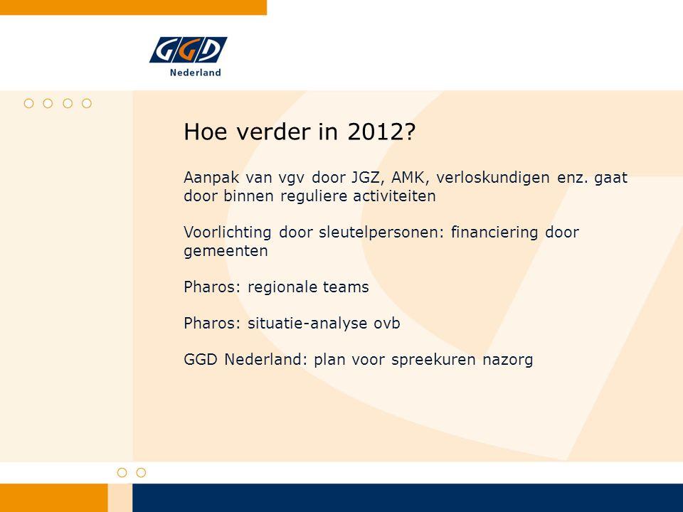 Hoe verder in 2012. Aanpak van vgv door JGZ, AMK, verloskundigen enz.