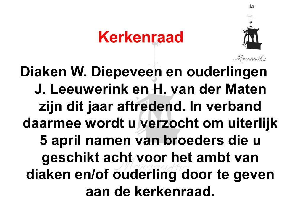 Diaken W. Diepeveen en ouderlingen J. Leeuwerink en H.