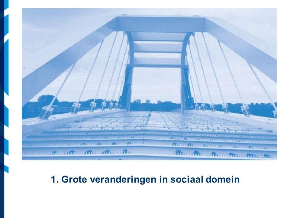 Vereniging van Nederlandse Gemeenten 1. Grote veranderingen in sociaal domein