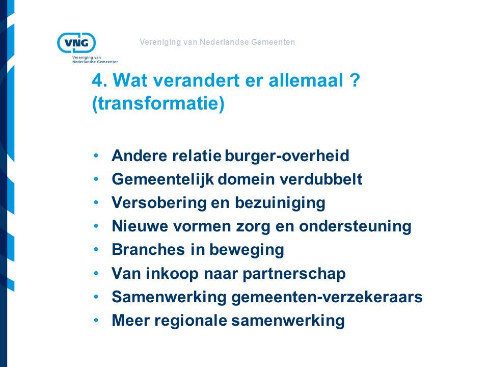 Vereniging van Nederlandse Gemeenten 4. Wat verandert er allemaal .